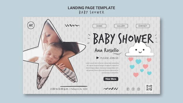 Baby shower bestemmingspagina