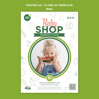 Babyvoeding winkel poster sjabloon