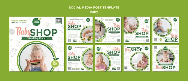 Babyvoedingswinkel op sociale media