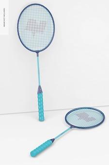 Badmintonracketmodel, leunend