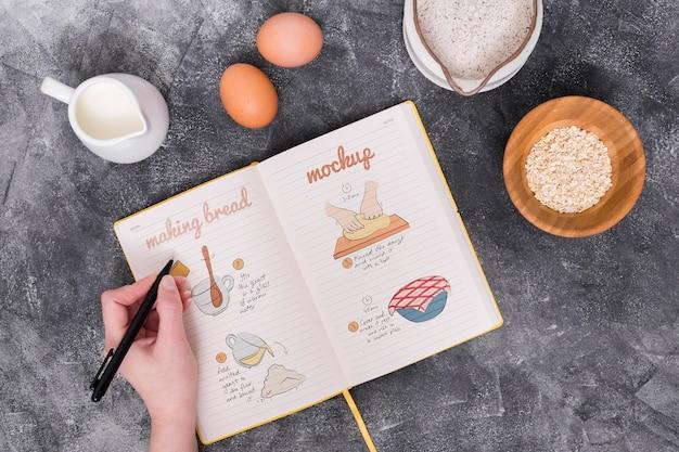 Bakkerij deeg ingrediënten en recept