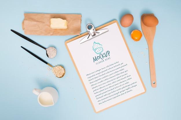 Bakkerij-ingrediënten en recept