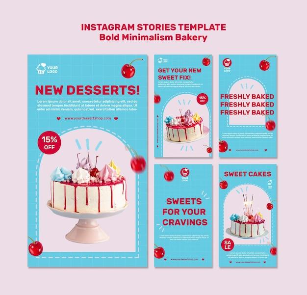 Bakkerij instagram verhalen sjabloon