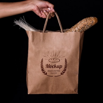 Bakkerijproducten concept met mock-up