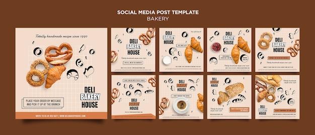 Bakkerijproducten sociale media plaatsen