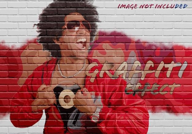 Bakstenen muur foto-effect mockup