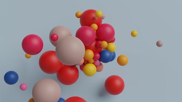 Bal kleurrijke vorm in 3d-rendering