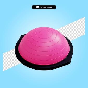Balance fitness stabilisator 3d render illustratie geïsoleerd