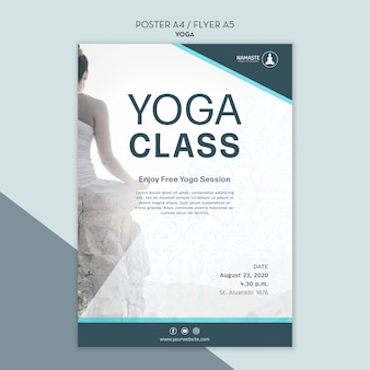 Balance your life yoga class poster template