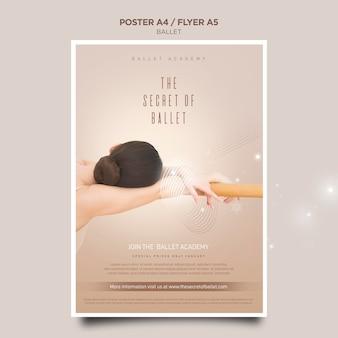Ballerina concept poster sjabloon