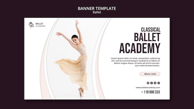 Ballet concept sjabloon voor spandoek