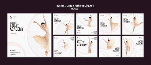 Ballet concept sociale media post sjabloon