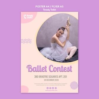 Ballet dag poster sjabloon