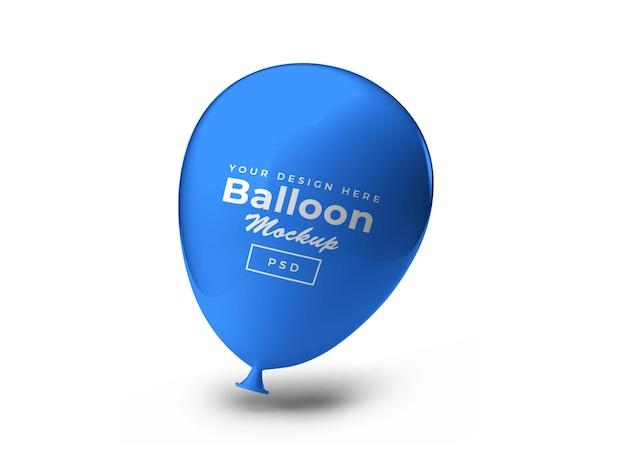 Ballon 3d mockup design rendering geïsoleerd
