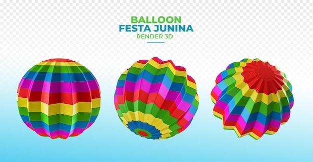 Ballon 3d render festa junina brazilië