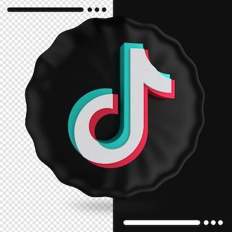 Ballon en logo van tik tok 3d-rendering