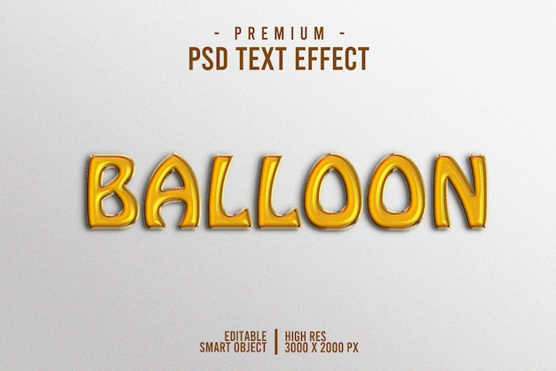 Ballon tekst efect