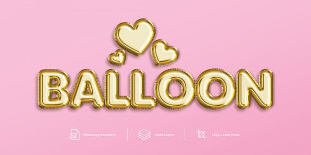 Ballon teksteffect
