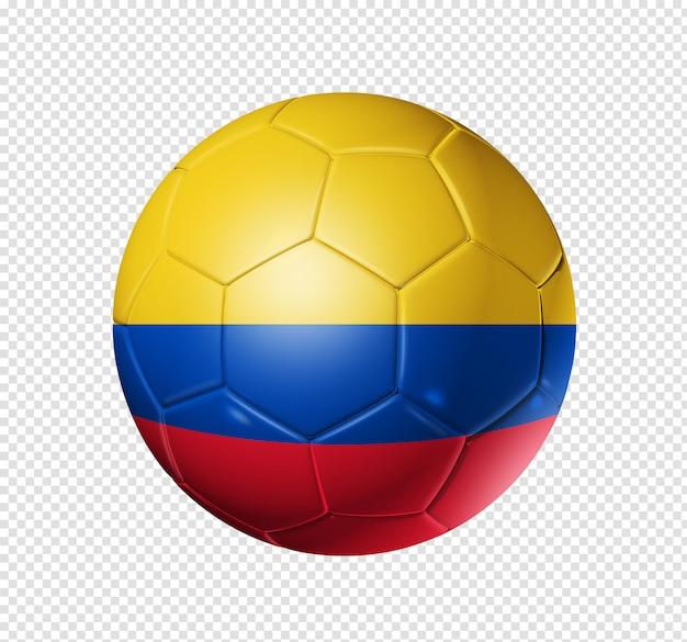 Balón de fútbol con la bandera de colombia