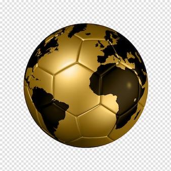 Balón de fútbol de fútbol dorado globo del mundo