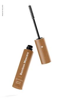 Bamboe mascara mockup, vallend