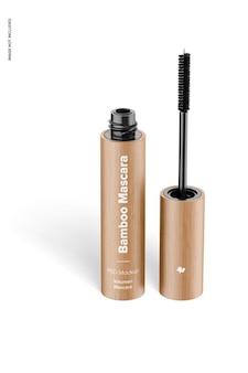 Bamboe mascara mockup, vooraanzicht