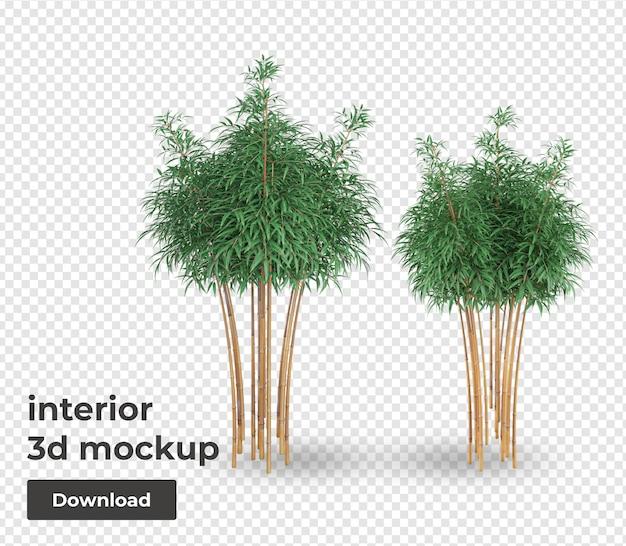 Bamboe plant mockup decoratie