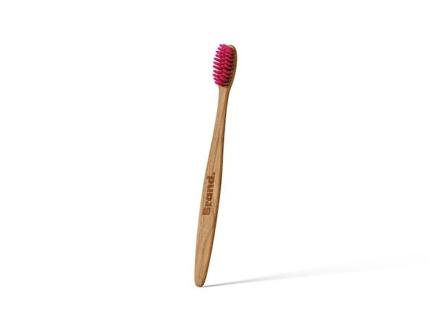 Bamboe tandenborstel mockup sjabloon