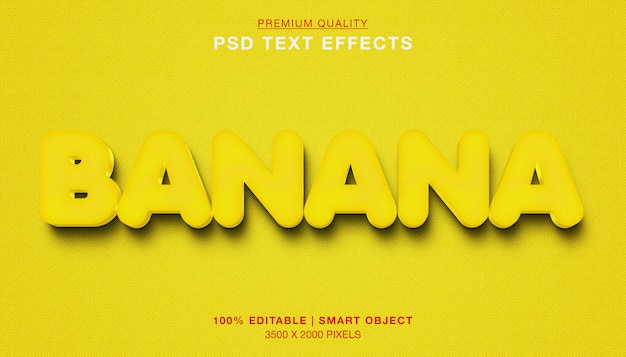 Banaan 3d teksteffect