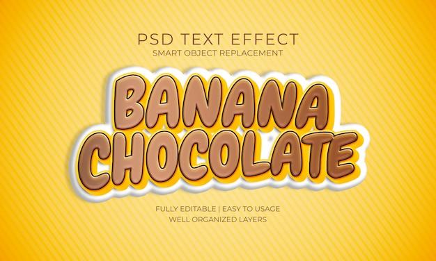 Banaan chocoladetekst effect