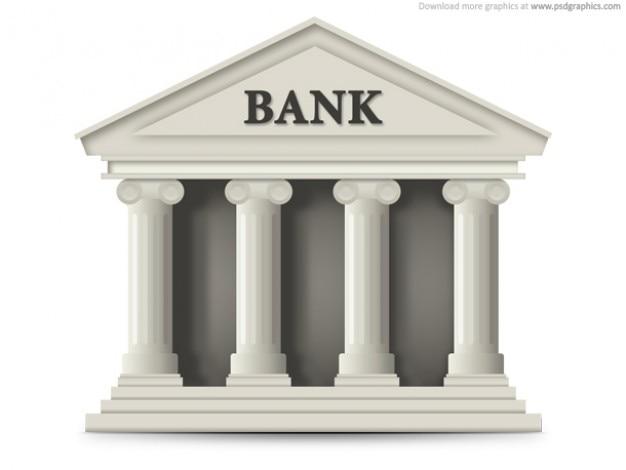 Banca edificio icona (psd)