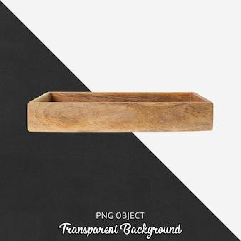 Bandeja de madera sobre transparente