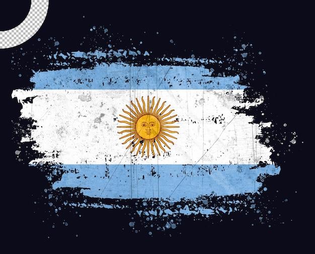 Bandera argentina vintage con trazo de pincel
