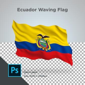 Bandera de ecuador onda transparente psd