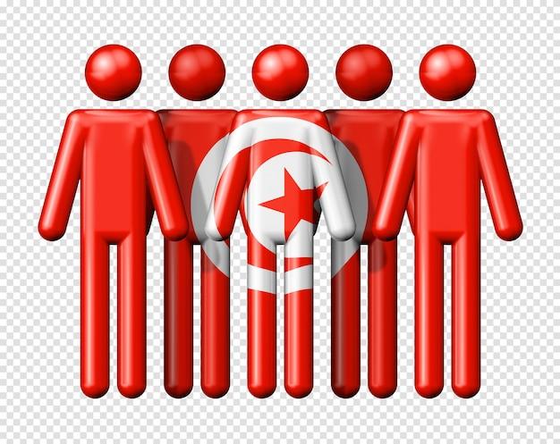 Bandera de túnez en figura de palo