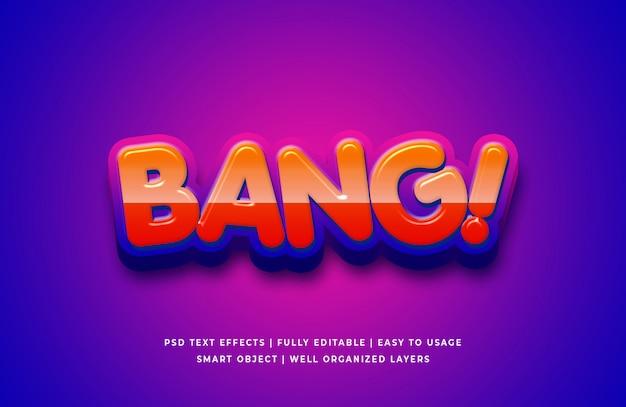Bang! cartoon 3d-tekststijleffect