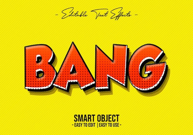 Bang text style effect