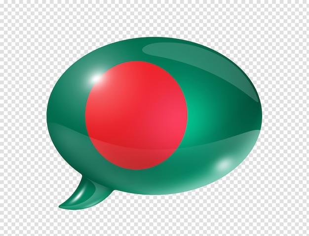 Bangladesh vlag tekstballon