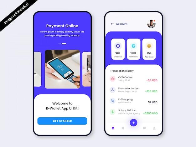 Banking & wallet app ui ux ontwerp
