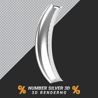 Banne de representación 3d de plata de icono