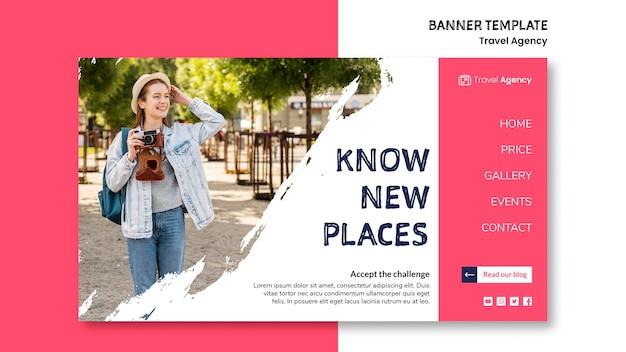 Banner de agencia de viajes