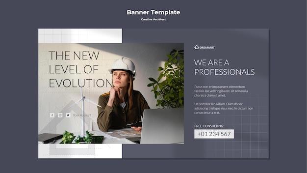 Banner de arquitecto creativo