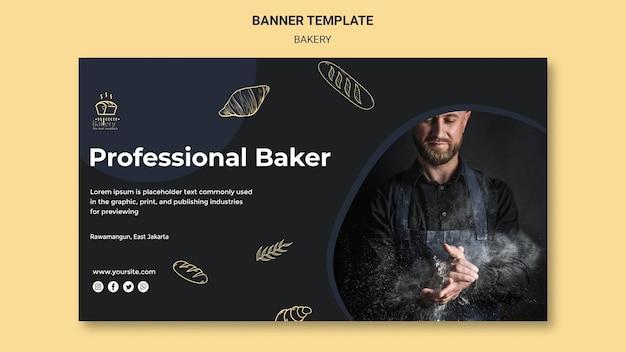 Banner bakkerij advertentiesjabloon