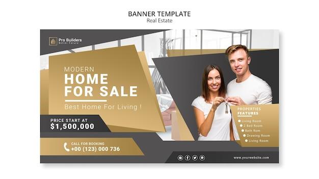 Banner de bienes raíces