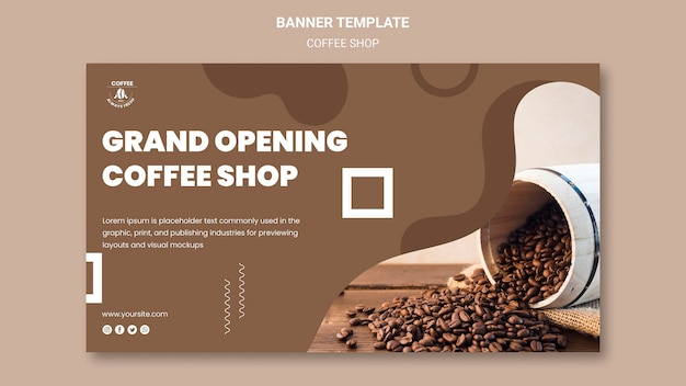 Banner de cafetería