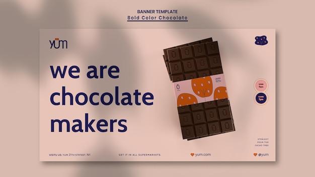 Banner chocolade winkel sjabloon