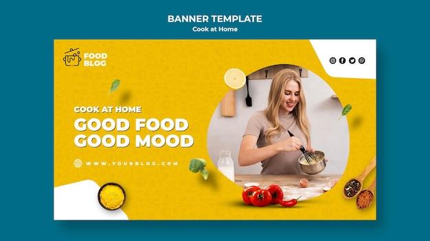 Banner de cocinar en casa