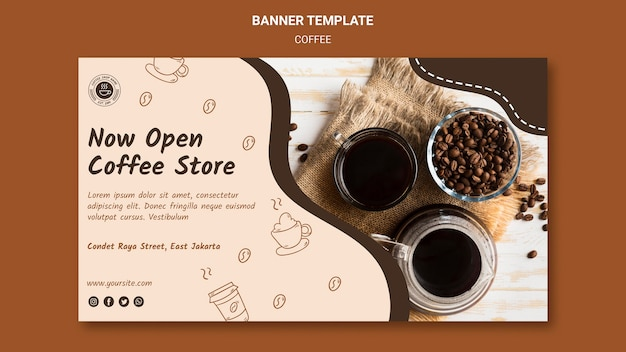 Banner coffeeshop sjabloon