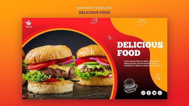 Banner de comida deliciosa