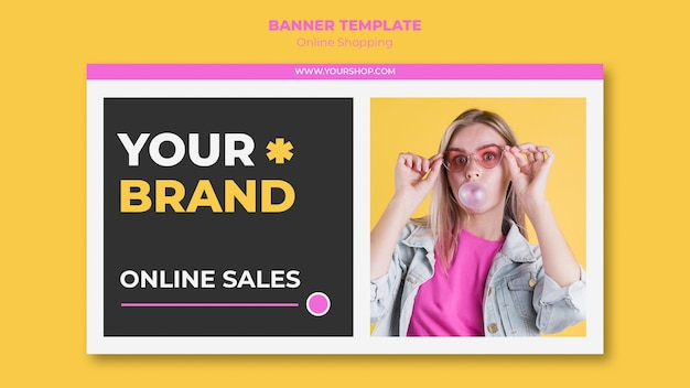 Banner de compras en línea de verano